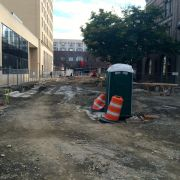 Commons Rebuild Project Starts Laying Pavers