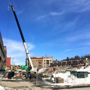 Marriott Project Digs and Drives Shoring Beams