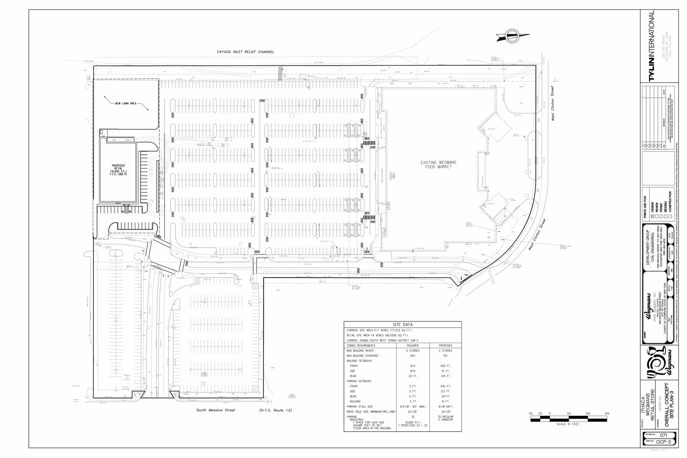 Ithaca builds site plan for Site floor plan