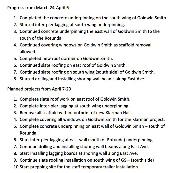Klarman-Schedule