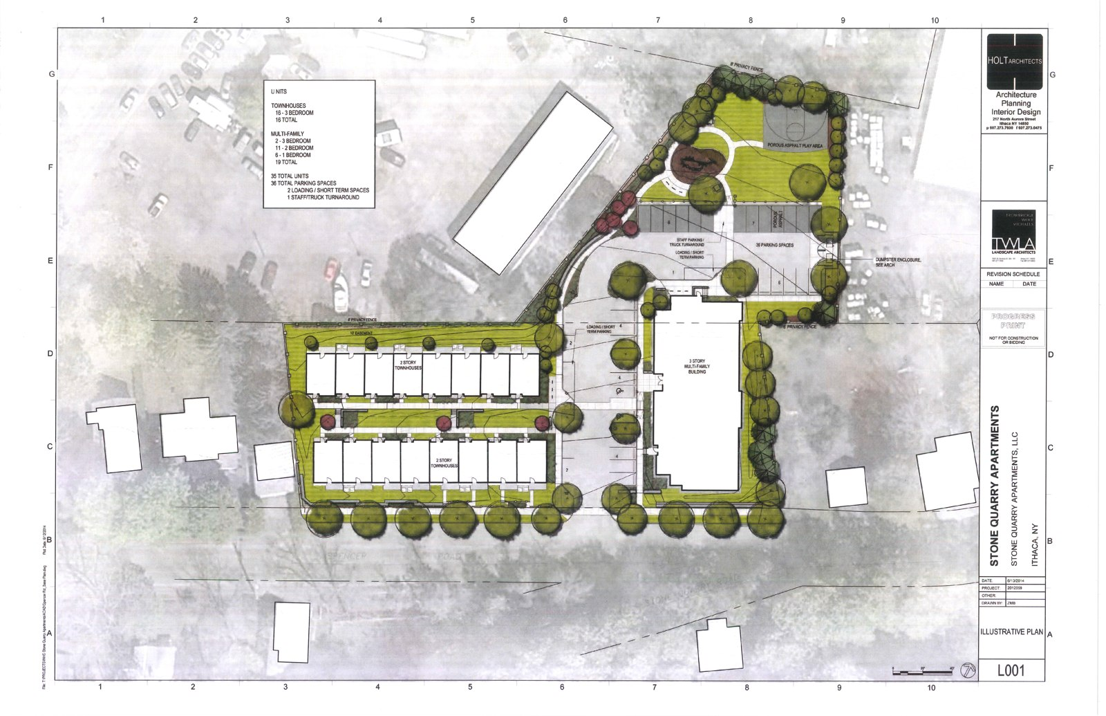 Ithaca builds inhs for Planner site