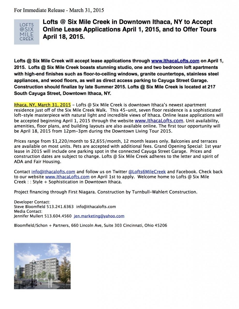 Press Release March 31 2015 Final - Online Leasing